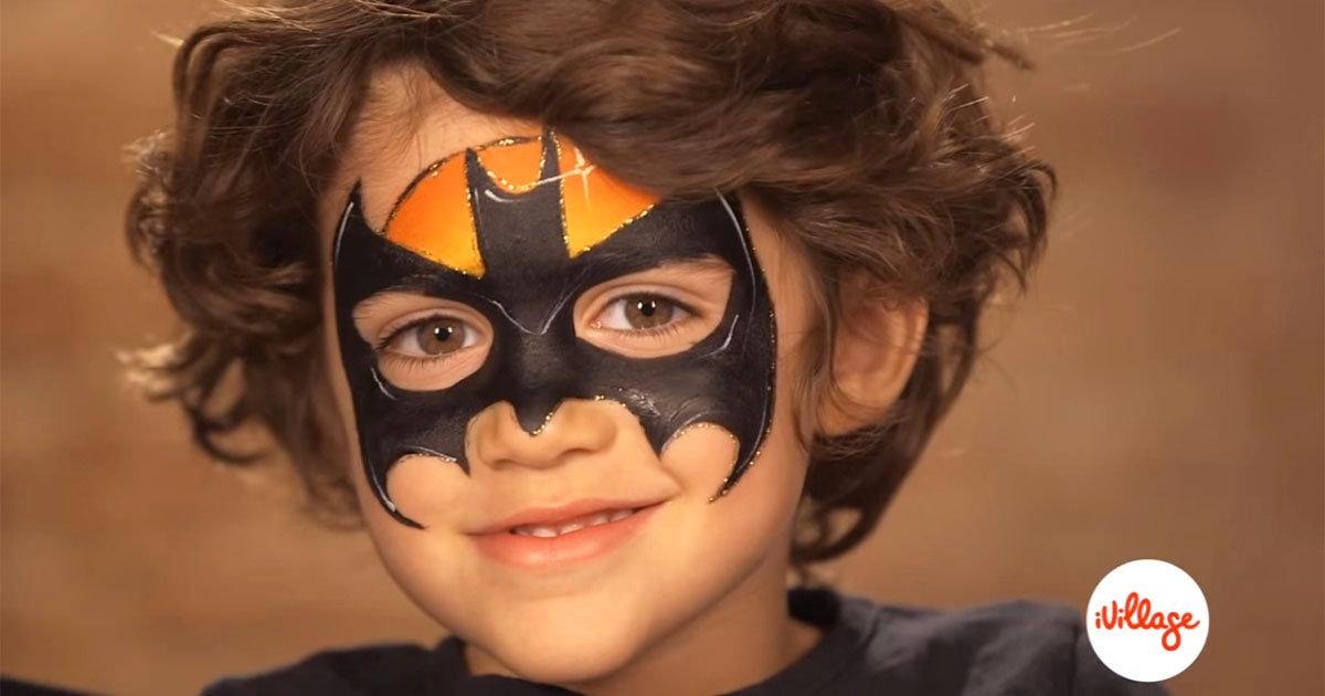 Batman Face Paint for Kids