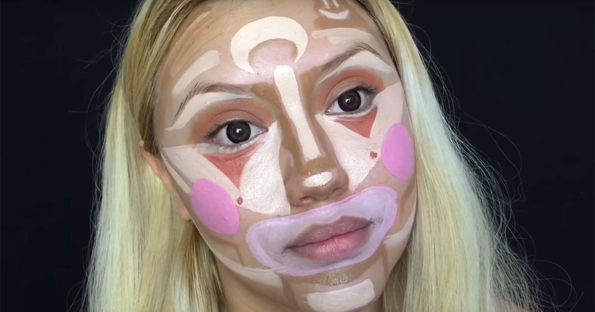 Too Much Contour Makeup